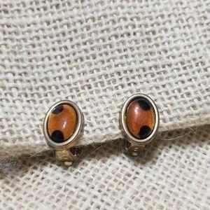 5/$10 Vintage Leopard Print Polka Dot Earrings